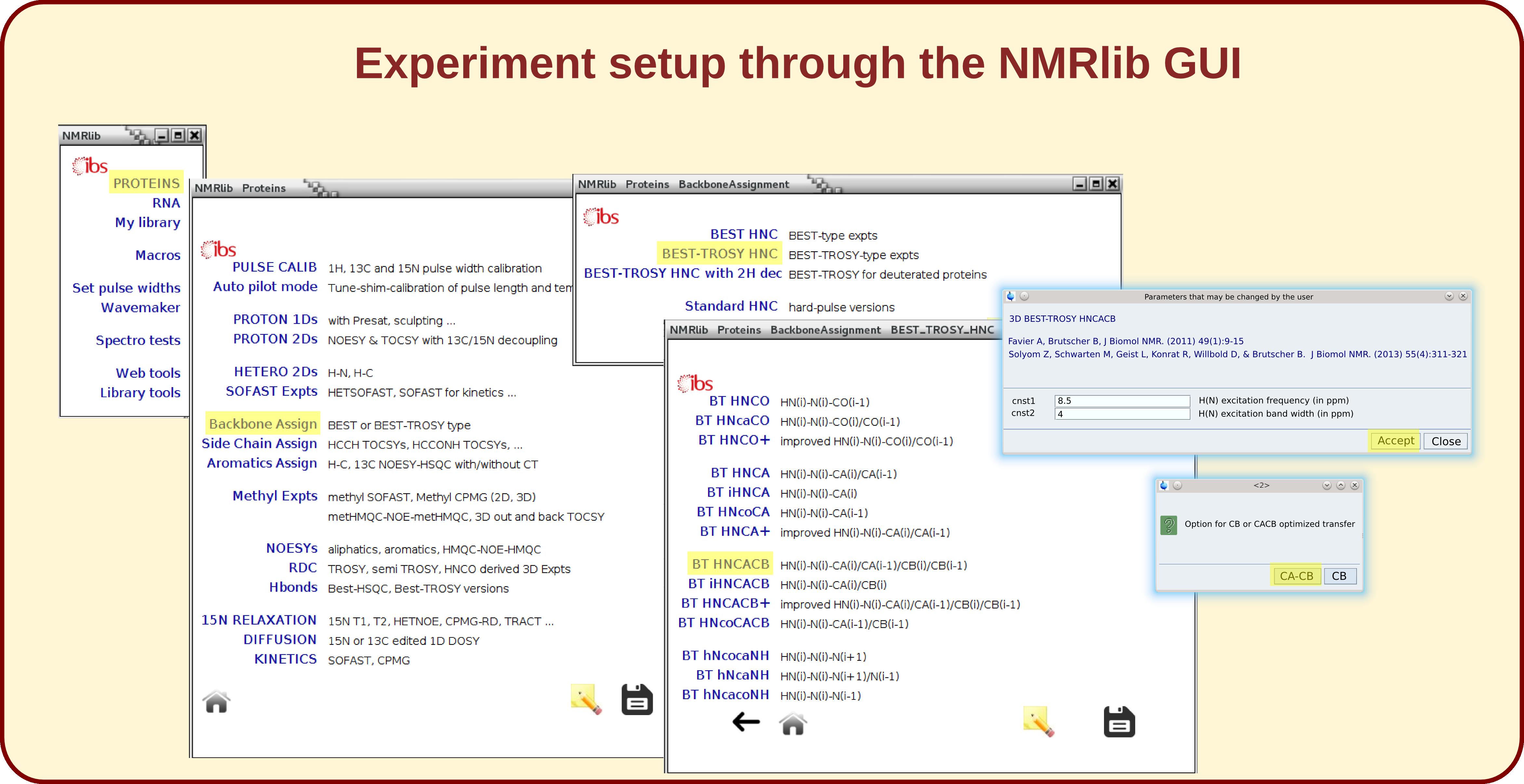 NMRlib 2 0: IBS pulse sequence tools for Bruker